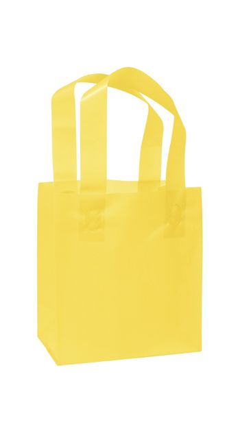 Yellow Frosted High Density Shoppers