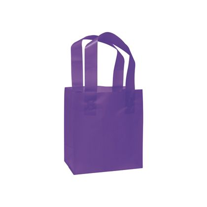 Grape Frosted High Density Shoppers, 6 1/2 x 3 1/2 x 6 1/2