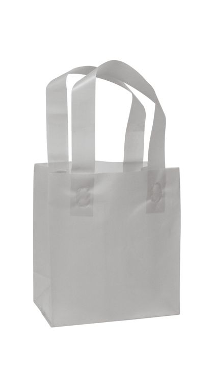 Silver Frosted High Density Shopper