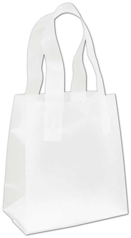 Clear Frosted High Density Flex Loop Shoppers