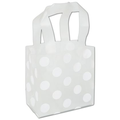 White Dots Clear-Frosted Flex Loop Shoppers