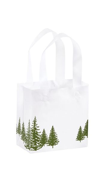 Icy Evergreen Shoppers, 6 1/2 x 3 1/2 x 6 1/2