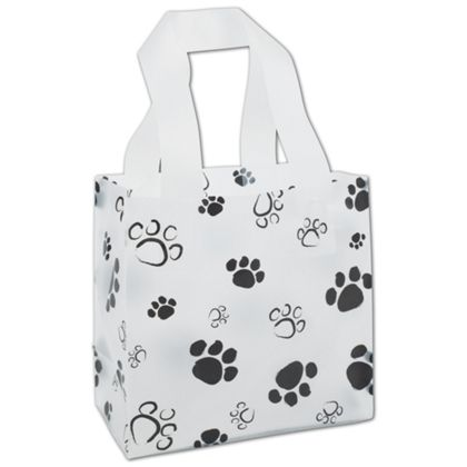 Paws Frosted Shoppers, 6 1/2 x 3 1/2 x 6 1/2