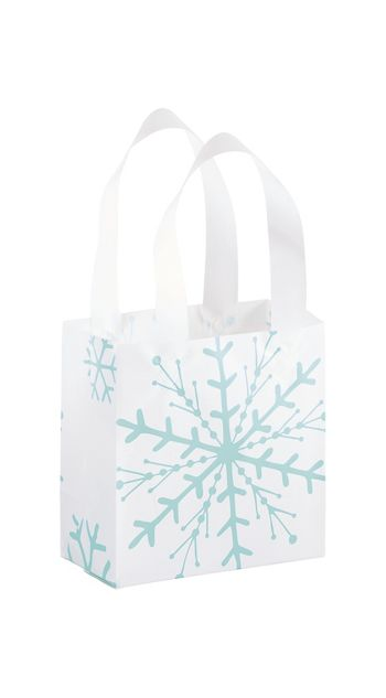 Snowflake Shoppers, 6 1/2 x 3 1/2 x 6 1/2