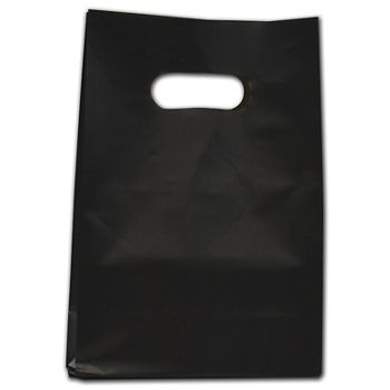 """Black Frosted Die-Cut Shoppers, 7 x 3 1/2 x 10 1/2"""""""