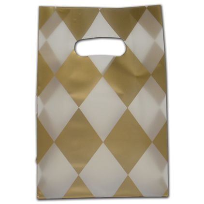 """Harlequin Frosted Die-Cut Shoppers, 7 x 3 1/2 x 10 1/2"""""""
