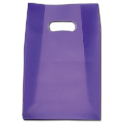 """Purple Frosted Die-Cut Shoppers, 7 x 3 1/2 x 10 1/2"""""""