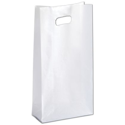 Clear Frosted High Density Die Cut Shoppers