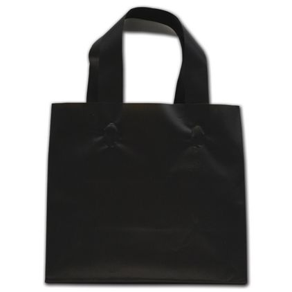 """Black Frosted Flex-Loop Shoppers, 8 x 4 x 7"""""""