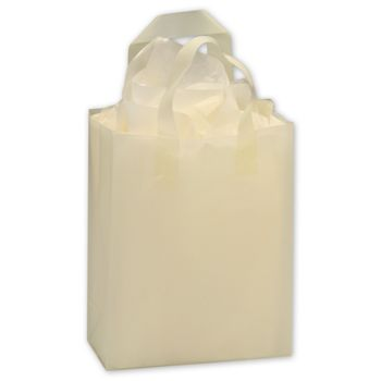 White Frosted High Density Shoppers, 8 x 4 x 10