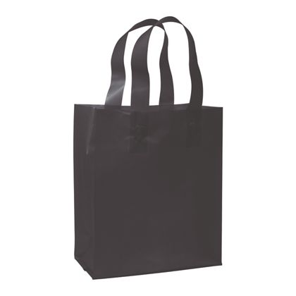 Black Frosted High Density Shoppers, 8 x 4 x 10""