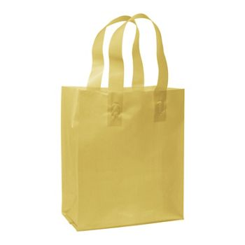 Gold Frosted High Density Shoppers, 8 x 4 x 10