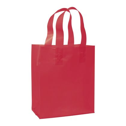 Red Frosted High Density Shoppers, 8 x 4 x 10