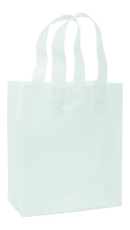 """Ocean Frosted High Density Shoppers, 8 x 4 x 10"""""""