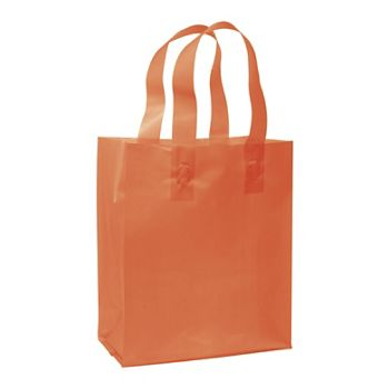 Orange Frosted High Density Shoppers, 8 x 4 x 10