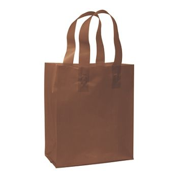Chocolate Frosted High Density Shoppers, 8 x 4 x 10