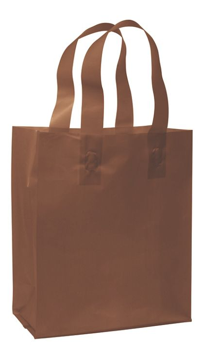 Chocolate Frosted High Density Shoppers, 8 x 4 x 10""