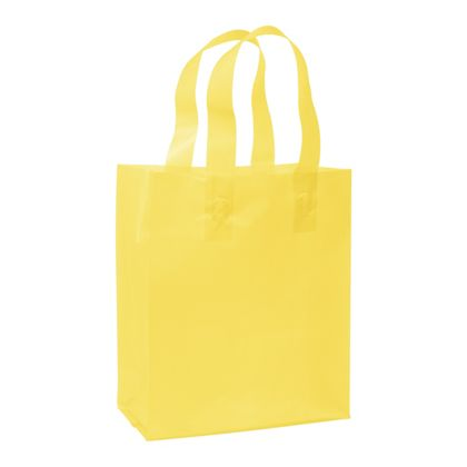 Yellow Frosted High Density Shoppers, 8 x 4 x 10