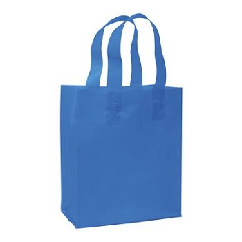 Blue Frosted High Density Shoppers, 8 x 4 x 10""