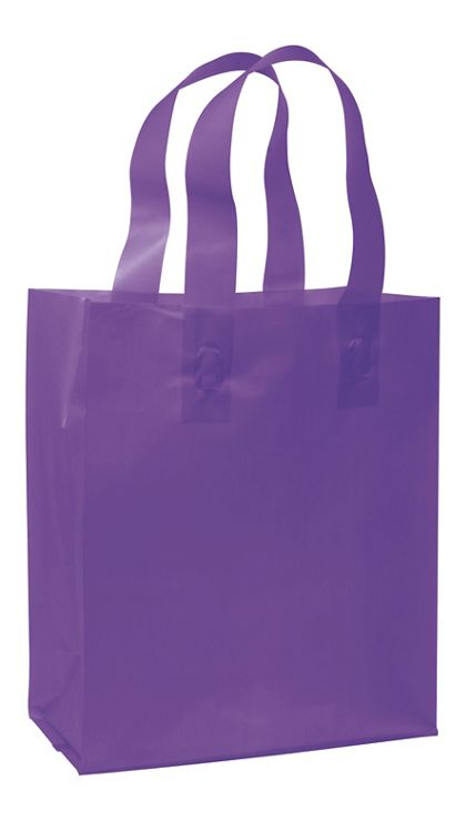 """Grape Frosted High Density Shoppers, 8 x 4 x 10"""""""