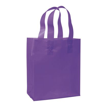 Grape Frosted High Density Shoppers, 8 x 4 x 10""