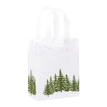 Icy Evergreen Shoppers, 8 x 4 x 10