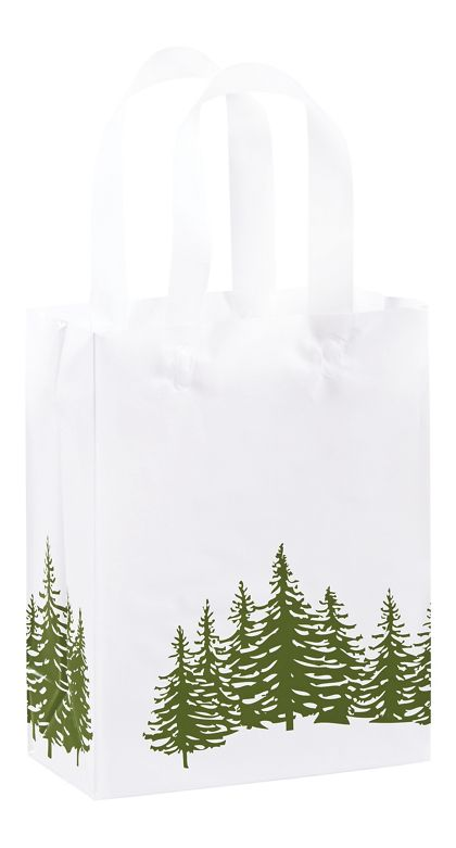 """Icy Evergreen Shoppers, 8 x 4 x 10"""""""