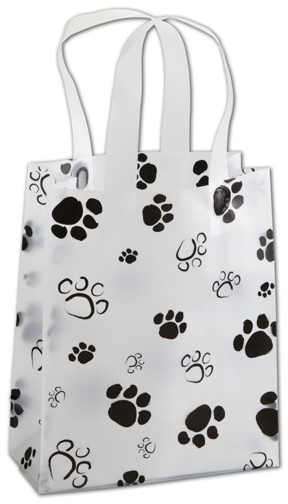 Paws Frosted Shoppers, 8 x 4 x 10""