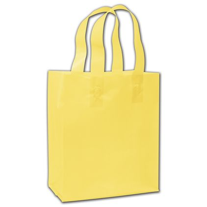 """Chamois Frosted Flex-Loop Shoppers, 8 x 5 x 10"""""""