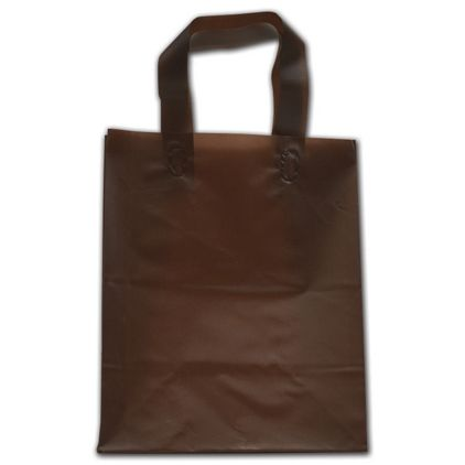 """Espresso Frosted Flex-Loop Shoppers, 8 x 5 x 10"""""""