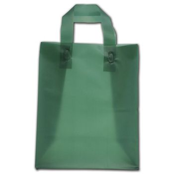 """Evergreen Frosted Flex-Loop Shoppers, 8 x 5 x 10"""""""