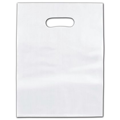 """Clear Frosted Die-Cut Merchandise Bags, 9 x 12"""""""