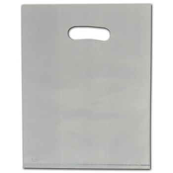 """Ivory Frosted Die-Cut Merchandise Bags, 9 x 12"""""""