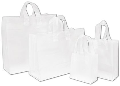 Clear Frosted High Density Shoppers Assortment, 4 Sizes