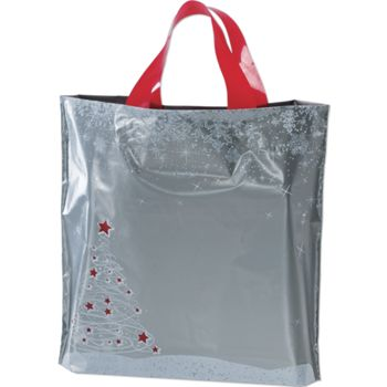 Holiday Tree/Snowflake Low Density Bags, 12 x 3 x 11