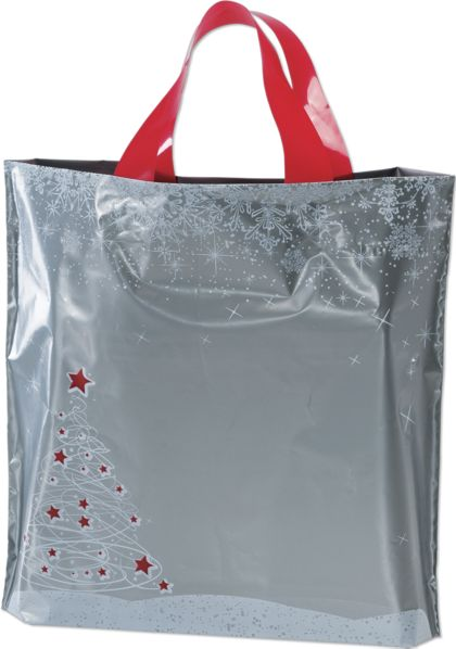 Holiday Tree/Snowflake Low Density Bags, 12 x 3 x 11""