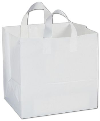 White High-Density To-Go Bags, 12 x 10 x 12