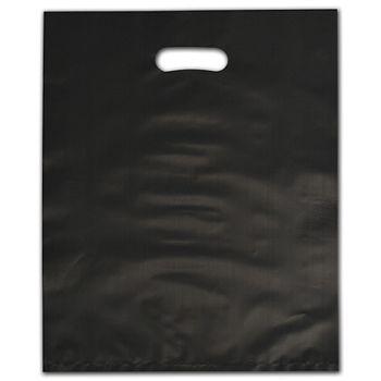 "Black Frosted Die-Cut Merchandise Bags, 12 x 15"""