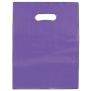 "Purple Frosted Die-Cut Merchandise Bags, 12 x 15"""