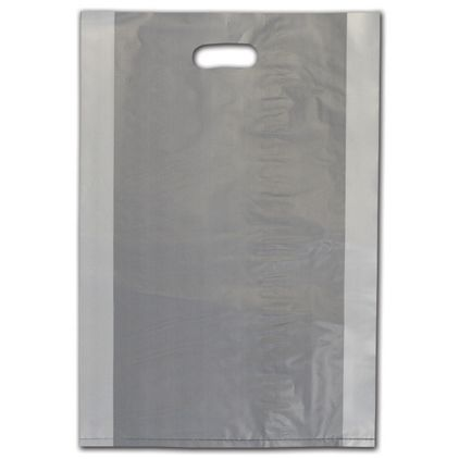 """Clear Frosted Die-Cut Shoppers, 14 x 3 x 21"""""""