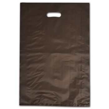 """Espresso Frosted Die-Cut Shoppers, 14 x 3 x 21"""""""