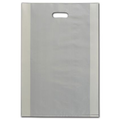 """Ivory Frosted Die-Cut Shoppers, 14 x 3 x 21"""""""
