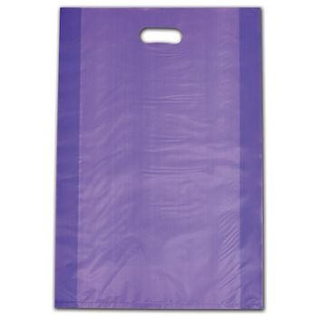 """Purple Frosted Die-Cut Shoppers, 14 x 3 x 21"""""""