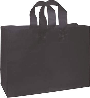 Black Frosted High Density Shoppers, 16 x 6 x 12