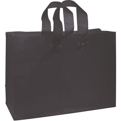 Black Frosted High Density Shoppers, 16 x 6 x 12""