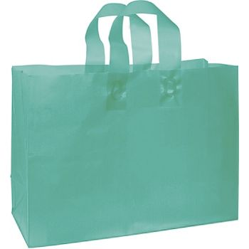 Teal Frosted High Density Shoppers, 16 x 6 x 12