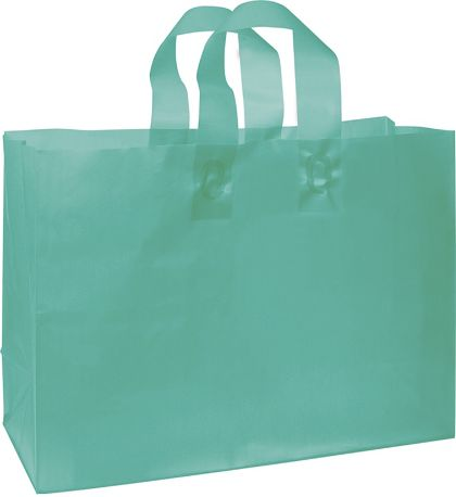 Teal Frosted High Density Shoppers, 16 x 6 x 12""