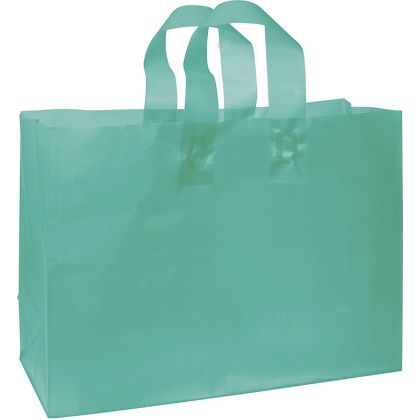 """Teal Frosted High Density Shoppers, 16 x 6 x 12"""""""