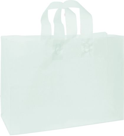 Ocean Frosted High Density Shoppers, 16 x 6 x 12""