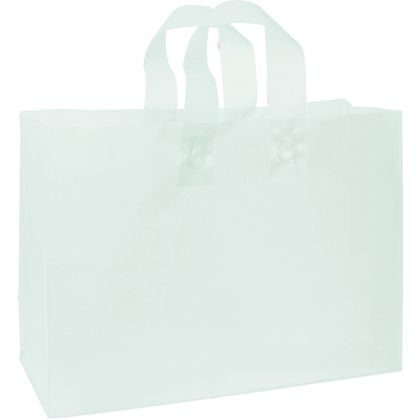 Ocean Frosted High Density Shoppers, 16 x 6 x 12